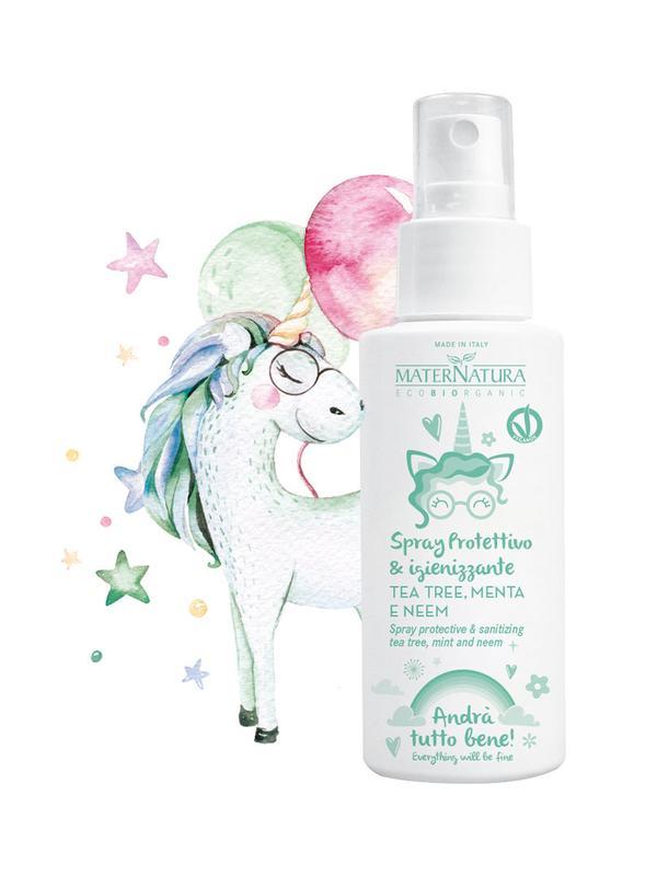MaterNatura Handsanitizer Spray Protective & Sanitizing bij Soin Total