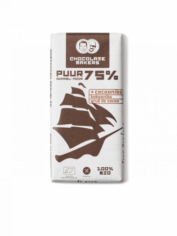 De Chocolatemakers Tres Hombres Puur 75% bij Soin Total